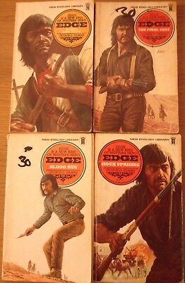 Edge Series By George G Gilman  Lot Of 4 Western Books Numbers 11/15/16 & 19.