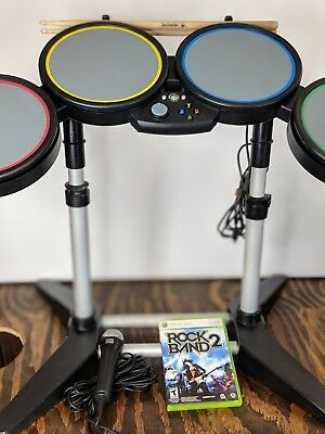 Xbox 360 rock band bundle wired drums rock band 2 game microphone xbox 360 rock band bundle wired drums rock band 2 game microphone drum sticks publicscrutiny Gallery
