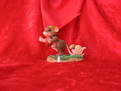 """CHARMING TAILS   """"TOUCHDOWN""""  MOUSE WITH FOOTBALL  #3831 of 8000"""