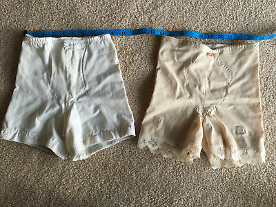 Two girdles; Vintage  Bows and Lace 1950s? 1960s?