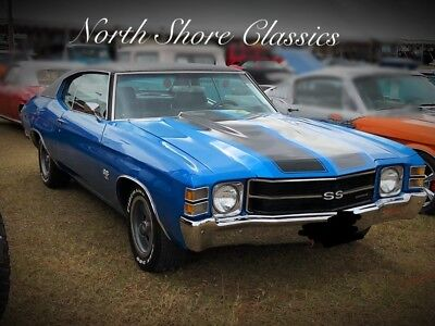 Chevelle -SS-BIG BLOCK 454-COWL INDUCTION HOOD-NICE PAINT- Mulsanne Blue Chevrolet Chevelle with 48,000 Miles available now!