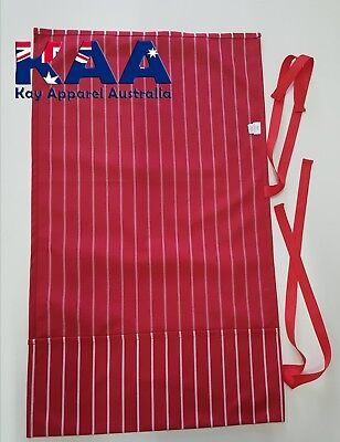 Knife Roll Butchers Chefs Red and White Pinstripe, Smoking, American BBQ