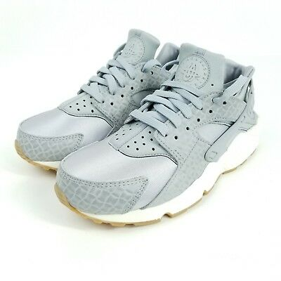 8cadc1dd10bd NIKE AIR HUARACHE Run Premium Womens 683818-012 Grey Gum Running ...