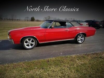 Chevelle -FACTORY 72 CODE-RECENT FRAME UP RESTORATION-SOLID 1972 Chevrolet Chevelle, Red with 80,981 Miles available now!