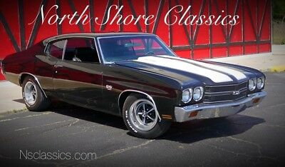 Chevelle -NEWER BLACK PAINT-BIG BLOCK 454 ENGINE-SLICK-SEE 1970 Chevrolet Chevelle, Black with 4,626 Miles available now!