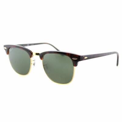 Authentic Ray Ban Clubmaster RB 3016 990/58 Red Havana Polarized Sunglasses 49mm