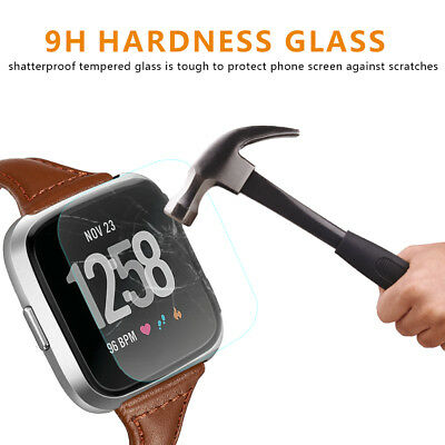 NEW Ultra Thin Tempered Glass Protective Film For Fitbit Versa Screen Protector