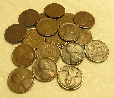 1/2 Roll Of 1923 S San Francisco Lincoln Wheat Cents From Penny Collection 25 Pc