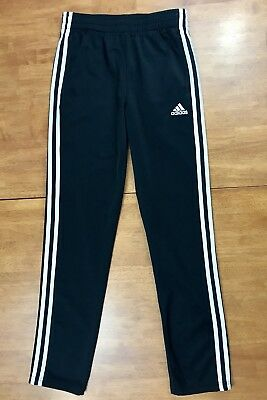 Adidas Black White Athletic Track Pants Youth Size L - Large (14-16)