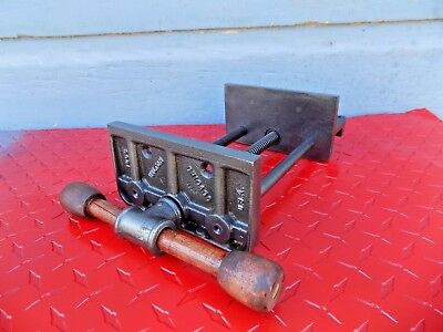 """Vintage Wilton 6.5"""" Jaws Under Bench Woodworking Vise,cast Iron Vice,made In Usa"""