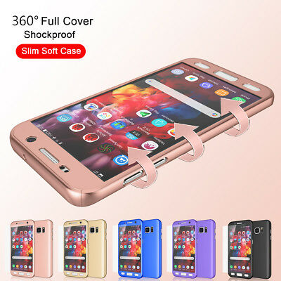 For Samsung Galaxy S7 Edge 360° Full Body Shockproof Protective Hard Case Cover