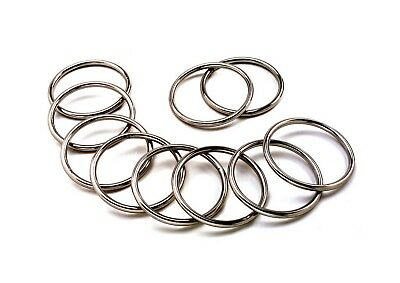10pcs STAINLESS STEEL 316  ROUND O RING MARINE DECK SHADE SAIL - 10mm x 50mm
