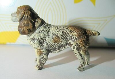 "Vintage ENGLISH COCKER SPANIEL - 1-1/2"" Tall ~ 2-1/8"" Long ~ Germany Red & White"