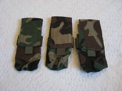 London Bridge Trading Lbt 9010-500D Magazine Pouch Woodland Camo Lot Of 3 New