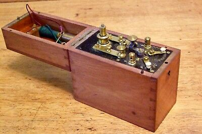 Victorian Electric Shock Machine In Nice Mahogany Case