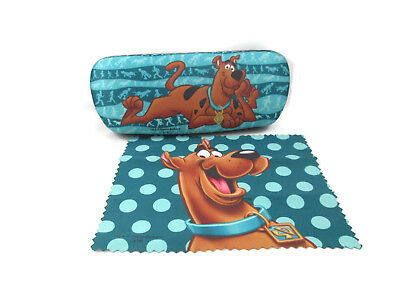 SCOOBY DOO Eyeglass Reading Glasses Hard Case w/ Matching Lens Cloth New