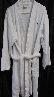 LACOSTE Pique Robe White One Size Men's or Women's