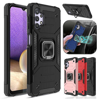 For Samsung Galaxy S10 Plus/S9+ Slim Ring Holder Shockproof TPU Armor Case Cover