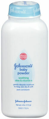 Johnson's Baby Powder Pure Cornstarch with Aloe & Vitamin E 4 oz