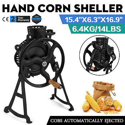 Heavy Duty Manual Farm Hand Corn Sheller Hulls Walnuts Cast Steel Hand Crank