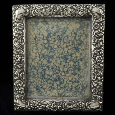 Antique Repousse Silver Picture Frame