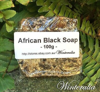 100g - Natural Raw African Black Soap - Organic -Premium Quality From Ghana