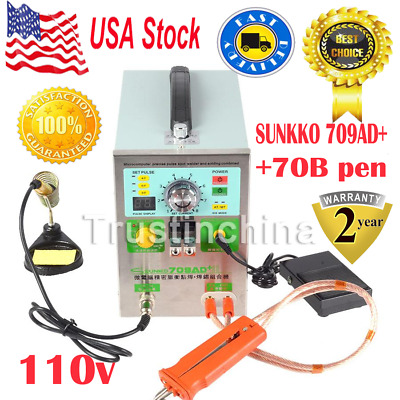SUNKKO 709AD+ Battery Pulse Spot Welder for 18650 Battery Pack Welding Soldering