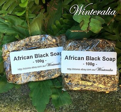 200g(100g X2)- Natural Organic Raw Unrefined African Black Soap -From Ghana