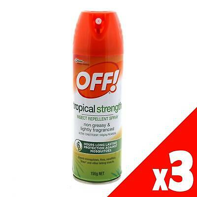 Off! Aerosol Tropical 150g 160g/L Picaridin Formula 6 Hour Protection 3 Pack
