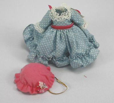 """Lot Of Vintage Madame Alexander- 8"""" Doll Clothes Dress & Hat -Miss Muffet"""