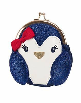 NWT GYMBOREE HOLIDAY SHOP Penguin COIN PURSE Girls
