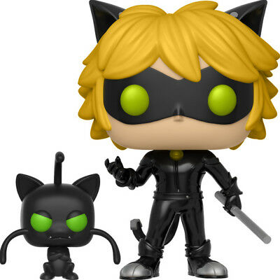 FUNKO POP Miraculous Cat Noir Plagg SOFT VINYL ACTION FIGURE NEW