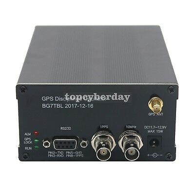GPSDO GPS Colck 10MHz Frequency Message Disciplined Oscillator LCD + GPS ANT
