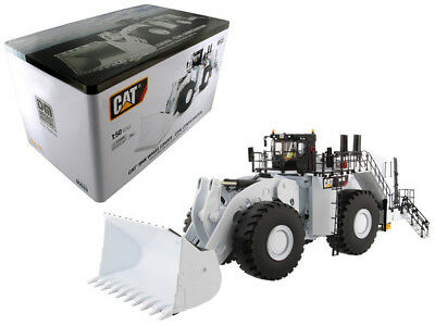 CAT Caterpillar 994K Wheel Loader with Coal Bucket in White  1/50 DCM-85533