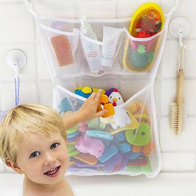Baby Bath Bathtub Toy Mesh Storage Bag Suction Bathroom Stuff Tidy Net Rakish