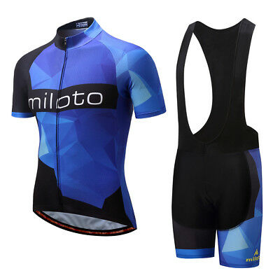2797c6b0d Mens Cycling Jersey Set Bicycle Bike Short Sleeve Clothing and Bib Shorts  M-4XL