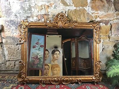 Quality Large Antique Style French Louis Bedroom,Hall Mirror~Carved Timber