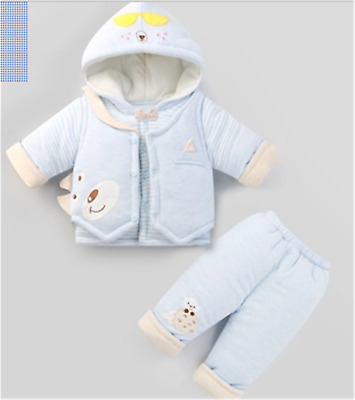 The newborn baby clothes in autumn and winter and padded suit thickening
