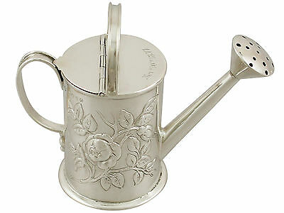Antique Sterling Silver Watering Can Cream Jug Victorian