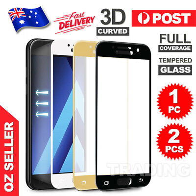 Full Tempered Glass Screen Protector For Samsung Galaxy A5 A7 2017 J5 J7 Pro