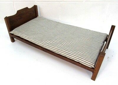 Edwardian inlaid salesman sampler bed with original mattress
