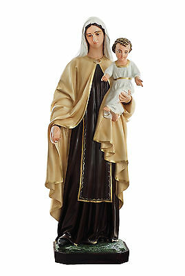 Our Lady of Mount Carmel fiberglass statue cm. 170 with glass eyes