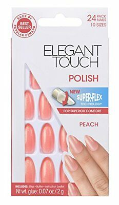 Elegant Touch Polished Ongles Pêche