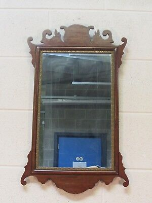 Antique George 3rd maple and oak mirror