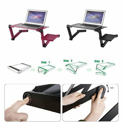 Portable Laptop Stand Desk Table Tray on sofa bed Mouse T8 With 2 Cooling OZ