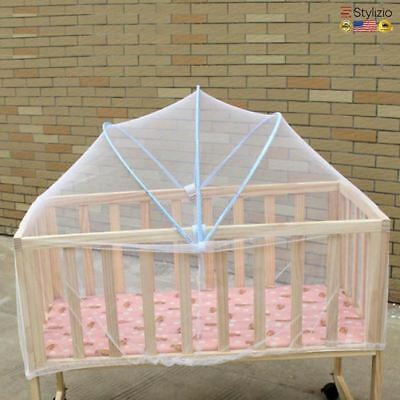 Arched Large Size Baby Crib Netting Summer Anti-Mosquito Insect Cradle White Mes
