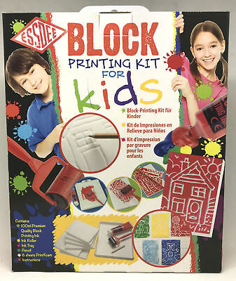 Essdee Block Printing Starter Kit For Kids! 11 Piece Craft Set