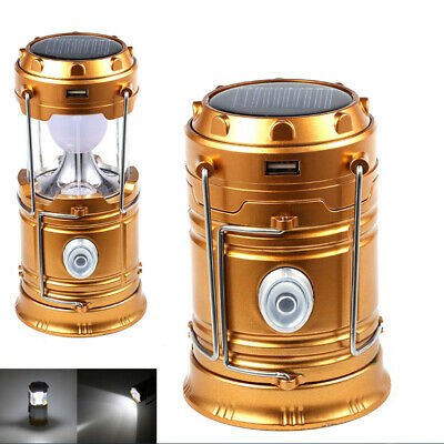 Portable Outdoor 30 LED Camping Lantern Outdoor Rechargeable Solar Tent Lanterns