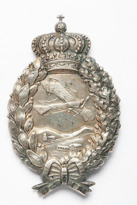 Rare WWI Bavaria Pilot Badge in Silver by Carl Pöllath, Schrobenhausen