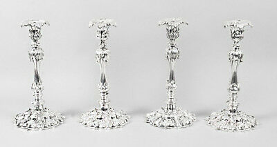 Antique Set of 4 Silver Plated  Candlesticks by Elkington & Co C1860